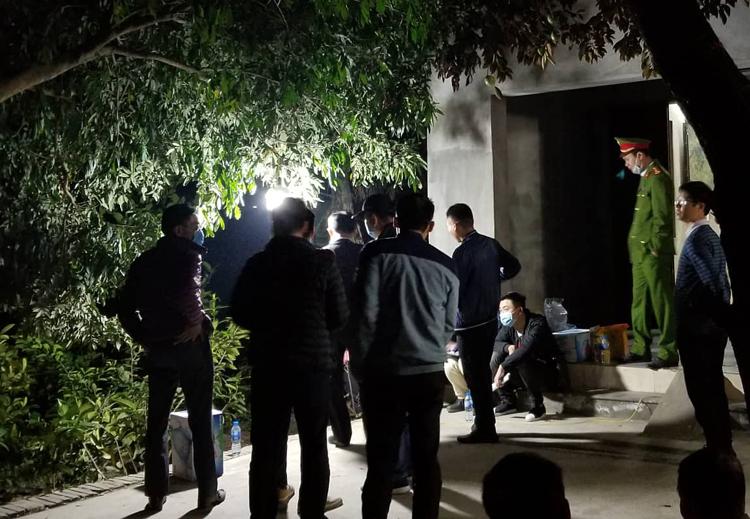 Cảnh sát đã có mặt tại hiện trường. Ảnh: Giang Chinh.