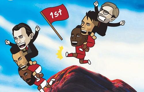 Man City và Tottenham cầm chân nhau, Liverpool độc chiếm vị trí dẫn đầu do hơn Arsenal hiệu số phụ.