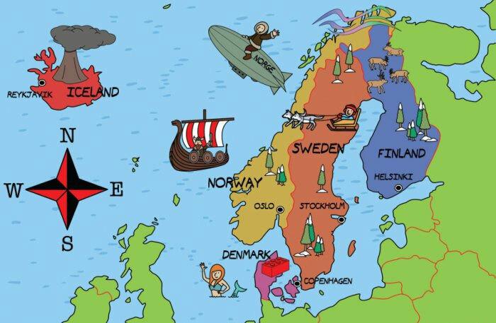 Nhiều nước Bắc Âu có sự tương đồng về ngôn ngữ. Ảnh: Polyglotclub.