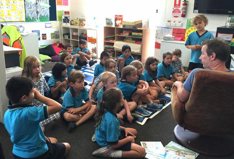 Học sinh trong một lớp tiểu học ở Australia, Ảnh: Thoại Giang.