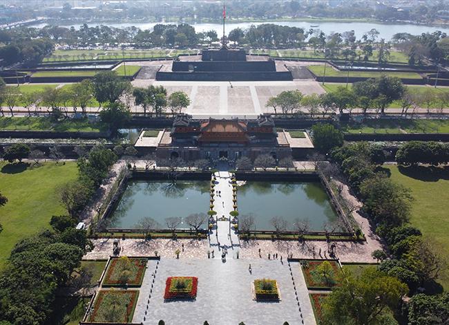 Sân chầu trước điện Thái Hòa sẽ là nơi tái hiệnthiết triều . Ảnh: Võ Thạnh