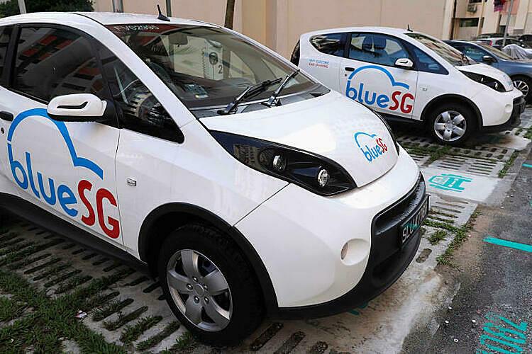 Một mẫu BlueSGtrong chương trình chia sẻ xe điện của Singapore ra mắt hồi 2017. Ảnh: Reuters