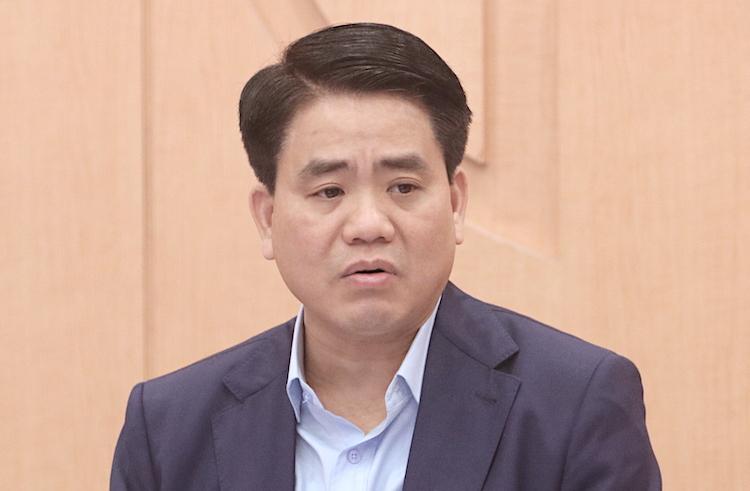 Chủ tịch UBND TP Hà Nội Nguyễn Đức Chung tại cuộc họp chiều 23/2. Ảnh: Võ Hải.