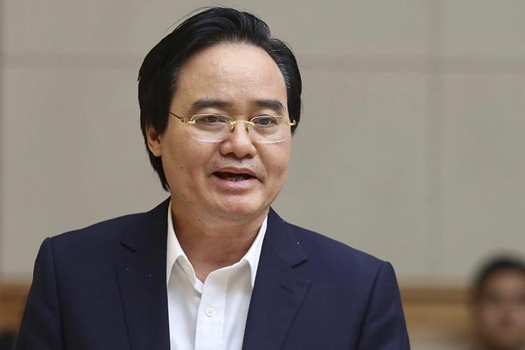 Bộ trưởng Giáo dục và Đào tạo Phùng Xuân Nhạ. Ảnh: Gia Chính