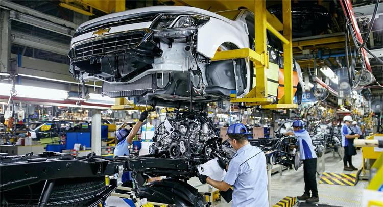 Nhà máy lắp ráp xe Chevrolet tại Thái Lan. Ảnh: GM
