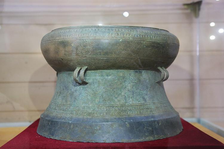 Trống đồng Trà Lộc là bảo vật quốc gia thứ 4 của tỉnh Quảng Trị. Ảnh: Hoàng Táo