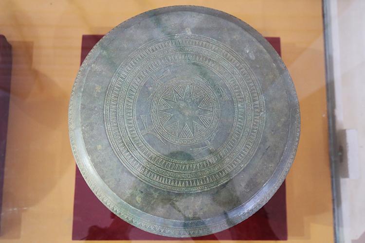 Trống đồng Trà Lộc hiện trưng bày ở bảo tàng tỉnh Quảng Trị. Ảnh:Hoàng Táo
