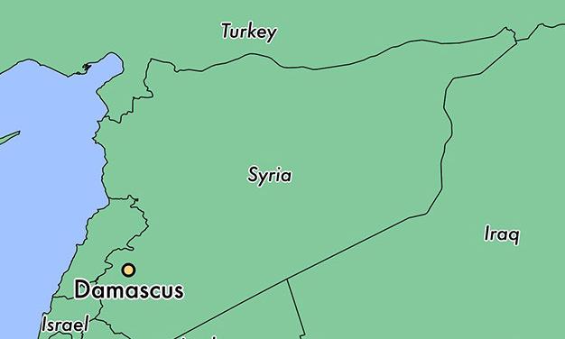 Vị trí thủ đô Damascus của Syria. Đồ họa: World Atlas.