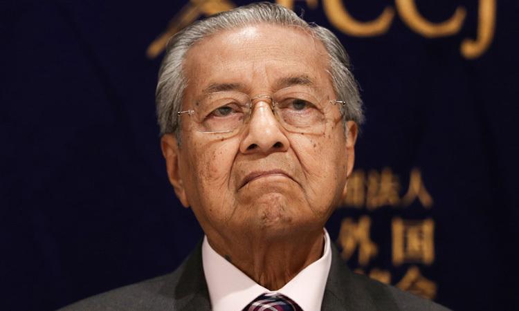 Thủ tướng Malaysia Mahathir Mohamad dự họp báo ở Tokyo, Nhật Bản tháng 5/2019. Ảnh: AFP.