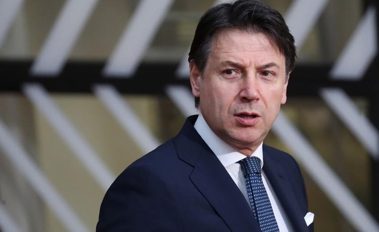 Thủ tướng Italy Giuseppe Conte tại Brussels hôm 20/2. Ảnh: AFP.