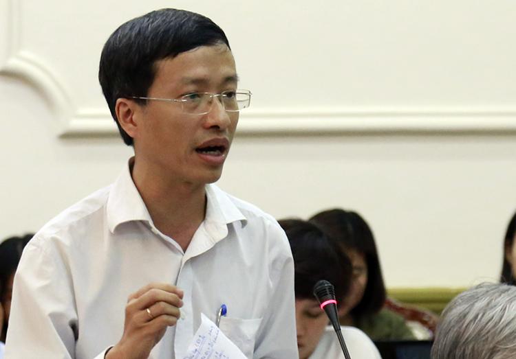 PGS. TS Nguyễn Trọng Lân, Viện trưởng Viện Pasteur TP HCM. Ảnh: Trung Sơn