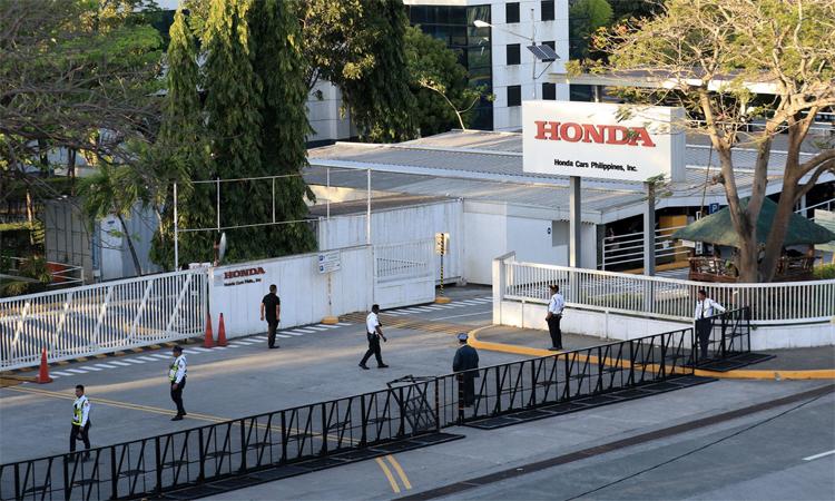 Nhà máy lắp ráp Honda tại Laguna Technopark ở Santa Rosa, tỉnh Laguna, sẽ đóng cửa từ tháng 3. Ảnh: Richard A. Reyes/Inquirer
