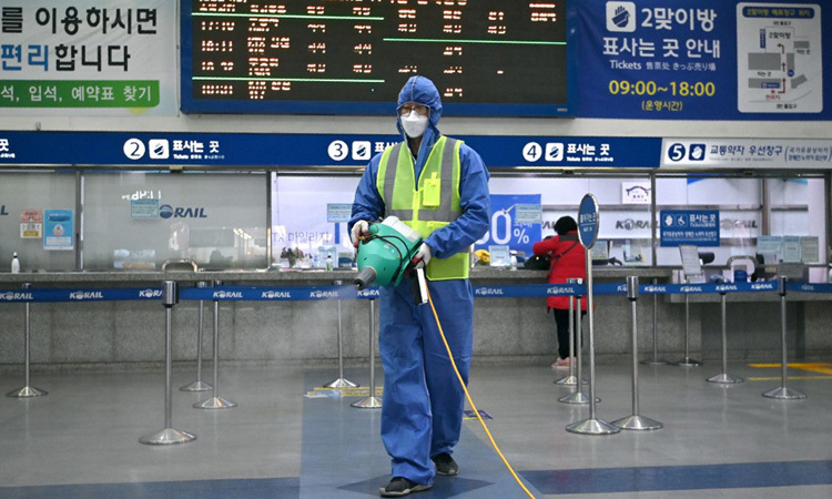 Số ca nhiễm nCoV ở Hàn Quốc tăng lên gần 1.300