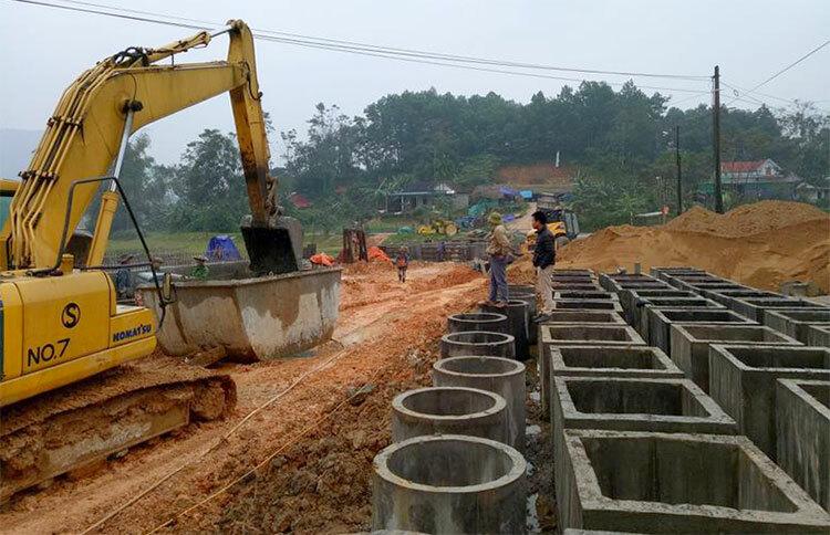 Dự án đường Sơn Long - Chợ Bộng. Ảnh: Xuân Hoàn