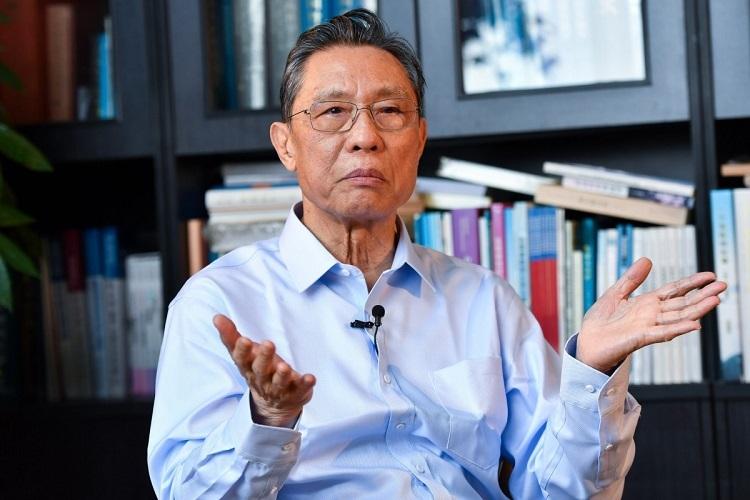 Chuyên gia Chung Nam Sơn tại một cuộc phỏng vấn hồi tháng 1. Ảnh: Xinhua.