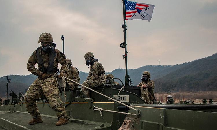 Lính Mỹ diễn tập tại Hàn Quốc hồi tháng 2/2019. Ảnh: US Army.