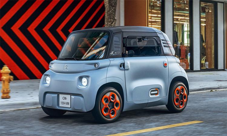Ami với kích thước nhỏ gọn, động cơ điện, dành cho người từ 14 tuổi và không cần bằng lái. Ảnh: Citroen