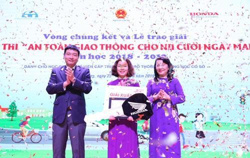 Cuộc thi an toàn giao thông cho nụ cười ngày mai năm học 2018 – 2019.