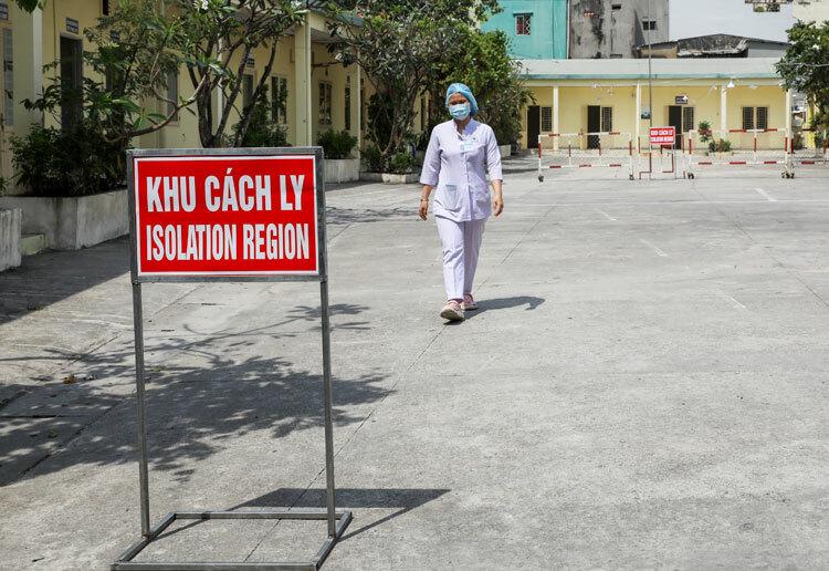 Khu cách ly dã chiến tại số 108 Trần Quang Diệu, quận 3, TP HCM.Ảnh: Quỳnh Nguyễn.