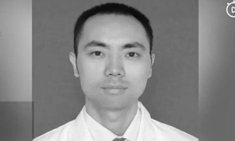 Bác sĩ Yuan Yangyang, người qua đời hôm 28/2. Ảnh: Pear Video