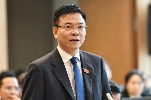Bộ trưởng Tư pháp Lê Thành Long, Tổ trưởng Tổ công tác. Ảnh: Giang Huy