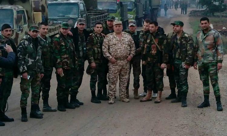 Binh sĩ Sư đoàn 9 sau cuộc giải cứu hôm 3/3. Ảnh: Al Masdar News.