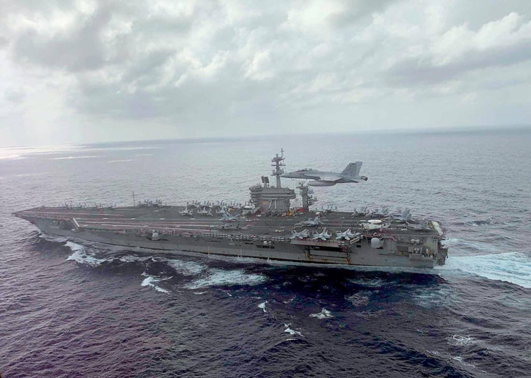 Tàu sân bay USS Theodore Roosevelt. Ảnh: Hải quân Mỹ
