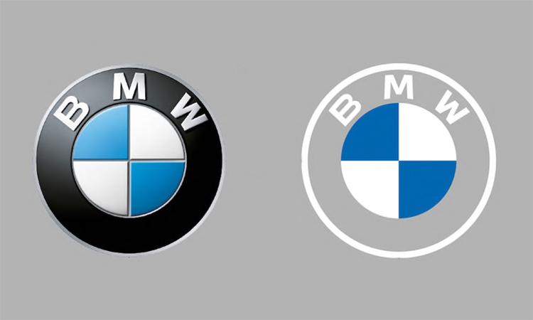 Logo hiện nay (trái) và thiết kế mới của BMW.
