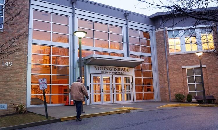 Nhà thờ Do Thái Young Israel được lệnh đóng cửa hôm 3/3 vì Covid-19. Ảnh: NYTimes.