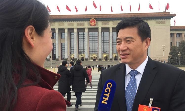 Bác sĩ Thái Vệ Bình trả lời phỏng vấn hồi năm 2018 tại Bắc Kinh. Ảnh: CGTN.