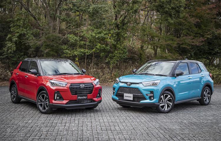 Daihatsu Rocky (trái) và Toyota Raize, hai sản phẩm có cùng một kết cấu. Ảnh: Response