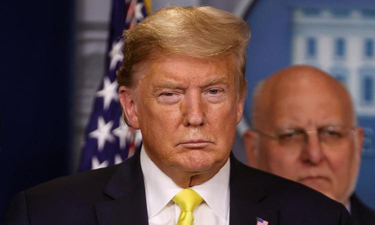 Tổng thống Mỹ Trump tại họp báo ở Nhà Trắng hôm 9/3. Ảnh: Reuters.