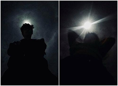 Bên trái: ánh tr?ng càng làm b?c ?nh ngh? thu?t h?n. Bên ph?i: th?i...toang!