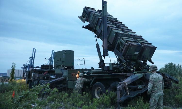 Tên lửa Patriot Mỹ triển khai trong một cuộc diễn tập ở châu Âu năm 2019. Ảnh: US Army.