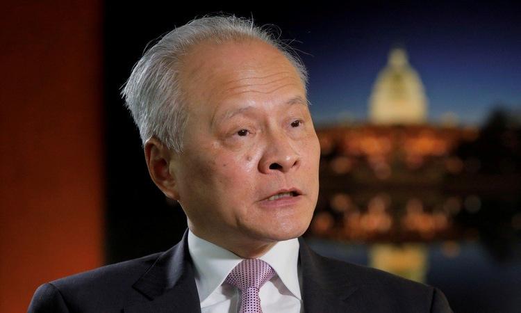 Đại sứ Thôi Thiên Khải trong một cuộc phỏng vấn ở Mỹ năm 2019. Ảnh: SCMP.