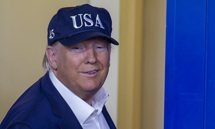 Tổng thống Trump tại Nhà Trắng ngày 14/3. Ảnh: AFP..