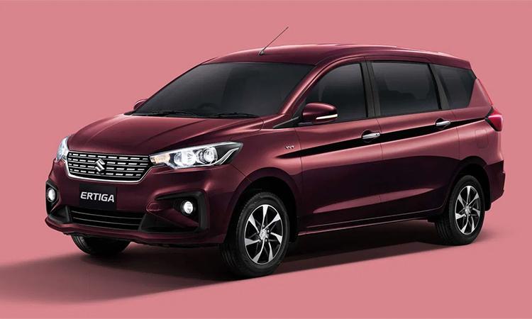 Suzuki Ertiga 2020 giới thiệu màu đỏ mới. Ảnh: Suzuki.