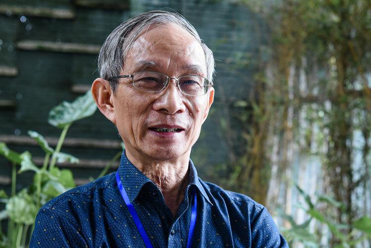 Thầy Nguyễn Xuân Khang, Hiệu trưởng trườngMarie Curie. Ảnh: Trang Linh.
