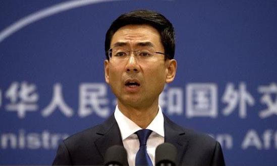 Phát ngôn viên Bộ Ngoại giao Trung Quốc Cảnh Sảng tại cuộc họp báo ở Bắc Kinh hồi tháng 9/2019. Ảnh: China Daily.