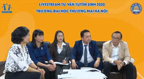 Đại diện các thầy cô của trường Đại học Thương mại Hà Nội trong chương trình Tư vấn Tuyển sinh và Hướng nghiệp năm 2020.