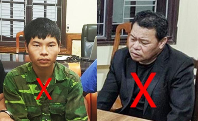 Việt (phải) và Hà tại cơ quan điều tra. Ảnh: Trần Linh.
