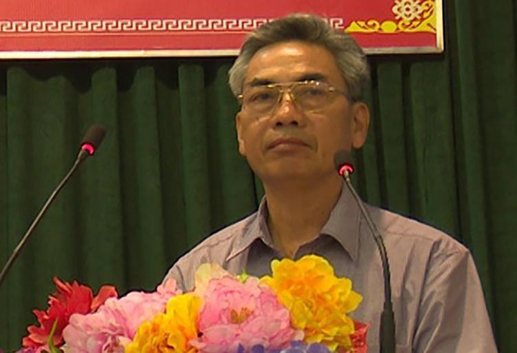 Ông Nguyễn Văn Hoà lúc đương nhiệm. Ảnh: UBND huyện Thanh Thuỷ.