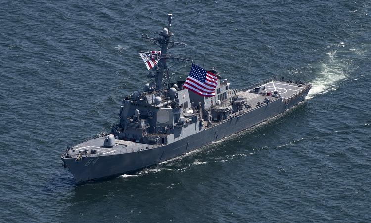 Tàu khu trục Mỹ diễn tập cùng các nước NATO trên Biển Đen năm 2019. Ảnh: US Navy.