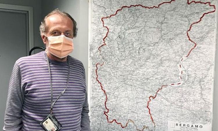 Angelo Giupponi, người đứng đầu dịch vụ cứu thươngcủa Bệnh viện Papa Giovanni XXIII, thành phố Bergamo. Ảnh: WSJ.