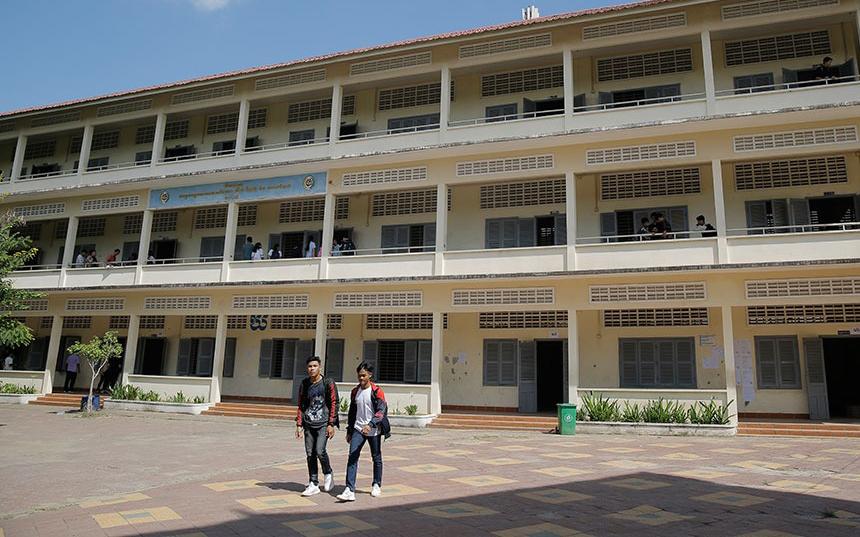 Campuchia đóng cửa trường học từ 17/3 đến khi có thông báo mới. Ảnh: Camboja News.