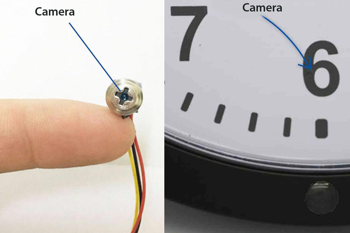 Một số nơi có thể giấu camera quay lén như ốc vít hoặc đồng hồ. Ảnh: Sixfortwelve.
