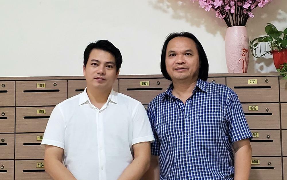 Thầy giáo Trần Phương (phải) và bác sĩ Nguyễn Mạnh Thắng. Ảnh: Nhân vật cung cấp.