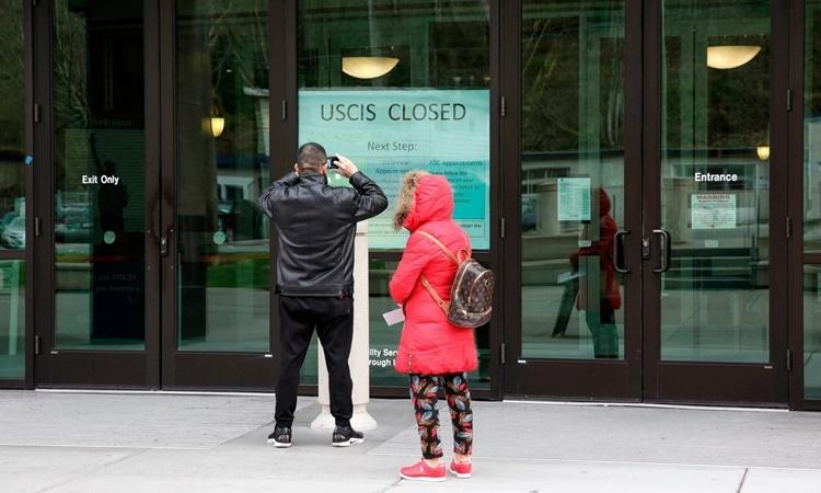 Trung tâm Dịch vụ Công dân và Nhập cư ở Tukwila, Washington. Ảnh: AFP.