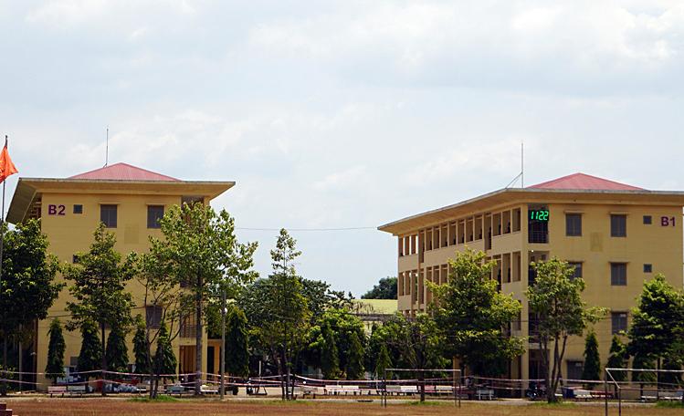 Khu cách ly tại 5 toà nhà nội trú Trung tâm Giáo dục Quốc phòng và An ninh (thành phố Dĩ An, Bình Dương). Ảnh: Mạnh Tùng.