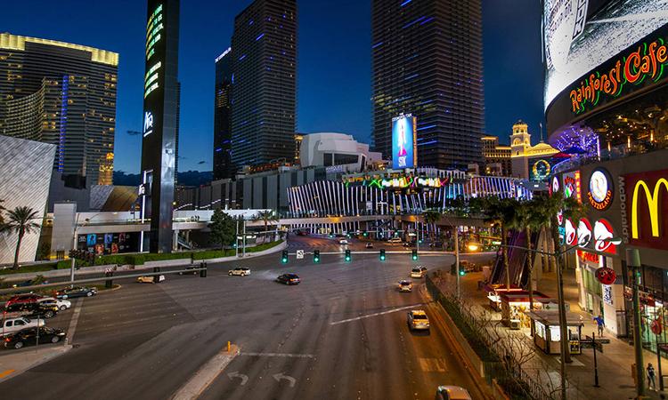 Đường phố Las Vegas hôm 16/3. Ảnh: Las VegasReview-Journal.